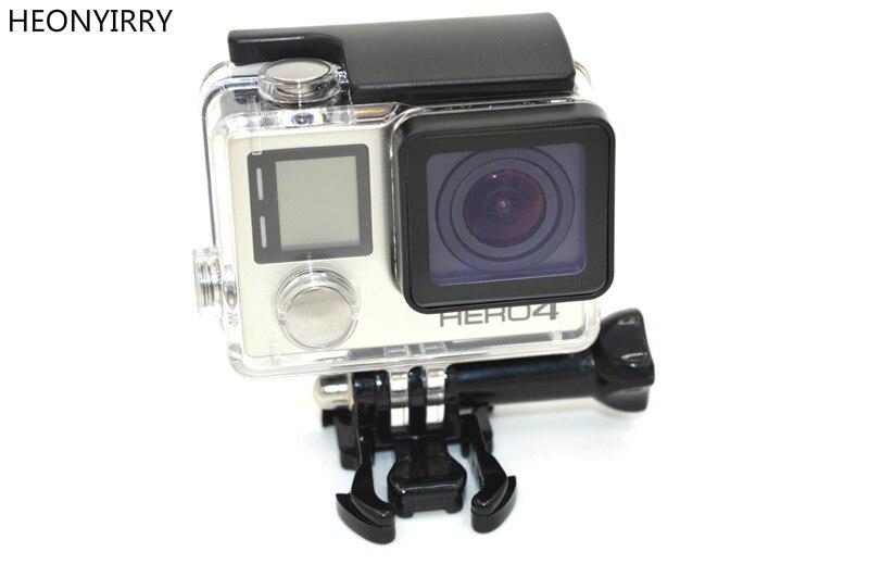 HEONYIRRY Pour Go pro Accessoires Pour Gopro Étanche Logement Mont Cas Hero 3 plus pour Gopro Hero 3 + 4 Caméra De Montage CAS
