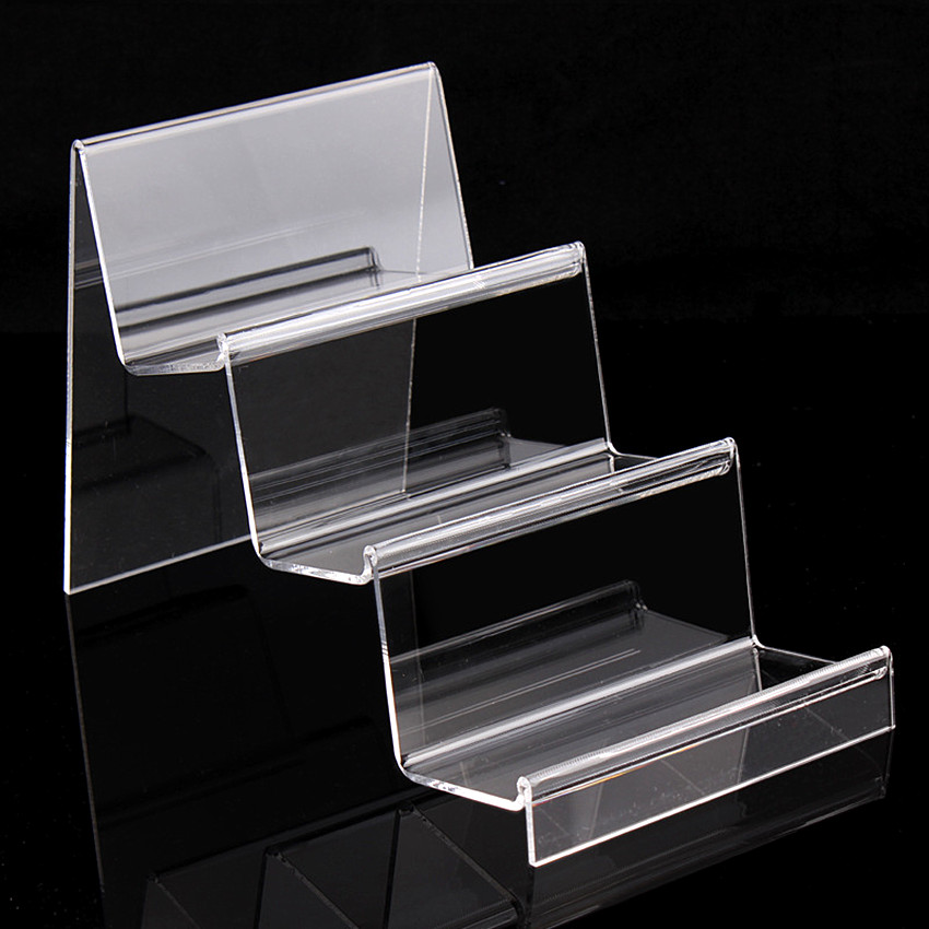 3 or 4 Tiers Longer&Wider L14cm Acrylic T3mm Purse Wallet Bag Iphone Book Products Commodity Display Racks Holder Stands 10pcs artesania audio prestige 3 3 tiers