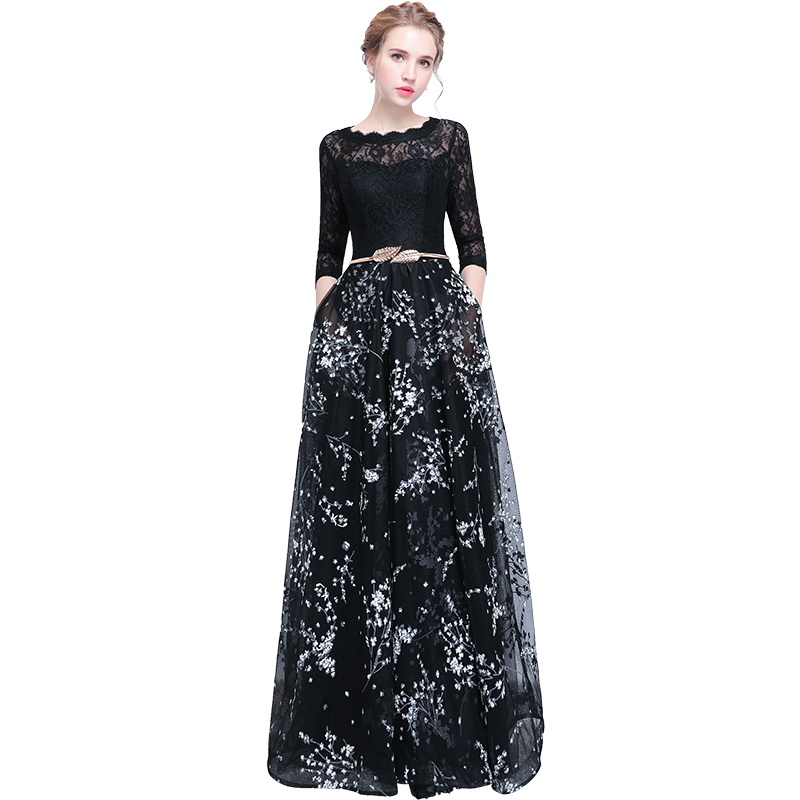 Doparty soiree Dinner Party   Evening     Dress   2018 Elegant Prom long black plus size formal special occasion   Dresses   Custom xs4