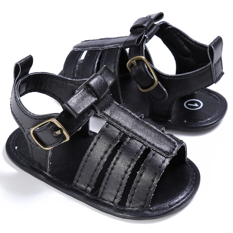 Raise Young PU Leather Summer Baby Sandals Soft Soles Non-slip Toddler Girl Shoes Newborn Infant Boy Footwear 0-18M