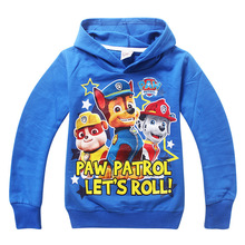 Paw Sweatshirts hoodies girls boys clothing More color kids clothes cartoon dog tops casual style 1 pcs
