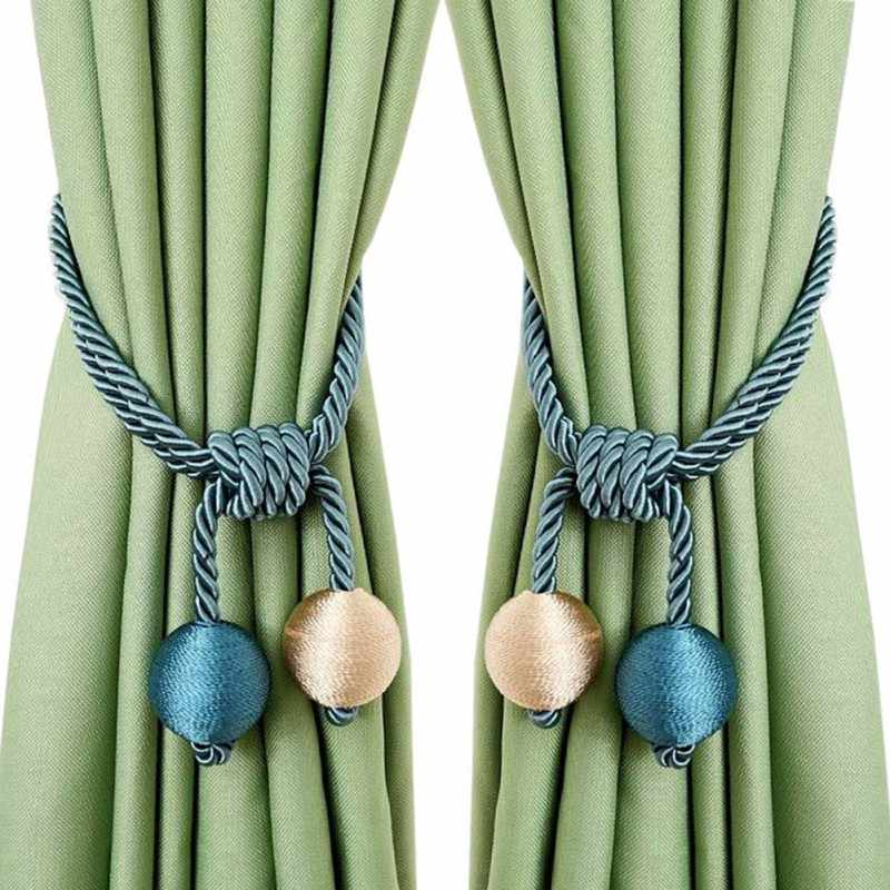 Detail Feedback Questions About Double Ball Curtain Tiebacks Curtain