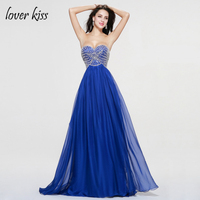 Vestido De Festa Beautiful Sweetheart Sleeveless Prom Gown Elegant Crystal Beading Tulle Party Gowns 2017 Prom