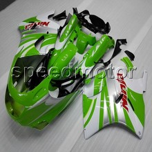 Bolts motorcycle cover GREEN WHITE ZZR 1100 90 01 fairing cowling for Kawasaki ZZR1100 ZX1100 1990