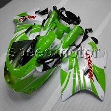 Parafusos + tampa da motocicleta VERDE BRANCO carenagem para Kawasaki ZZR 1100 90 01 carenagem ZZR1100 ZX1100 1990-2001 1998 1999 2000