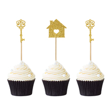 12pcs Home Sweet Cupcake Toppers New House Housewarming Party Cake Decoration Family Supplies Militery Welcome