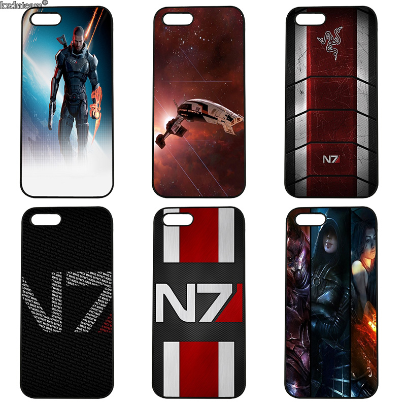Fashion N7 Mass Effect Mobile Phone Case Hard PC Cover Fitted for iphone 8 7 6 6S Plus X 5S 5C 5 SE 4 4S iPod Touch 4 5 6 Shell