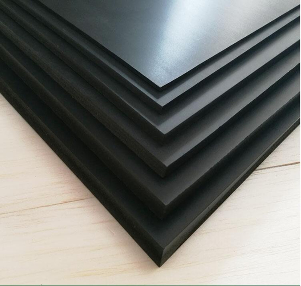 200mm*250mm DIY Model Styrene Flat Sheet Plate Materials For Train Buildings Black Sheet Model Building Kits ABS Plastic