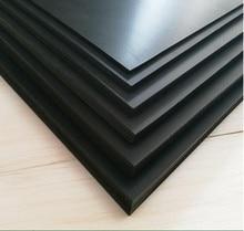 200mm*250mm DIY Model Styrene Flat Sheet Plate Materials For Train Buildings Black Building Kits ABS Plastic