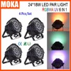4pcs Lot Free Shipping 4pcs Lot 24x18w Uv Rgbwa Led Par Can Light Par64 Led Lighting