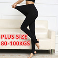 PLUS SIZE Winter Warm Women Girls Velvet Thick Thermal Leggings Slim Fitness Leggings Pants Super Elastic 80-100KGS 8801