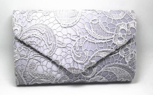 silvery Evening Bag