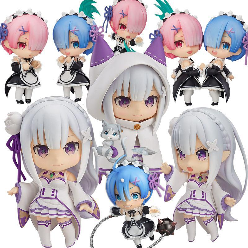 Re:life In A Different World Zero Emilia Rem Q Version Japanese Anime Pvc Action Figure Collectible Model Toy Christmas Gifts