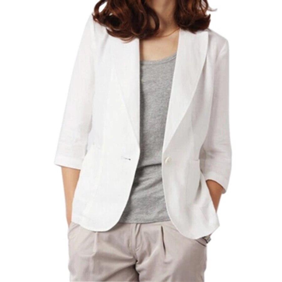 6009 Summer Blazer Women Plus Size Short Sleeve White Casual Blazers Women Mantel Damen Jas Dames Louson Femme Ladies Coats