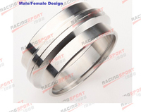 4 Self Aligning Male/Female V Band Vband Flange Ring CNC 304 Stainless Steel CLRMS 4.0