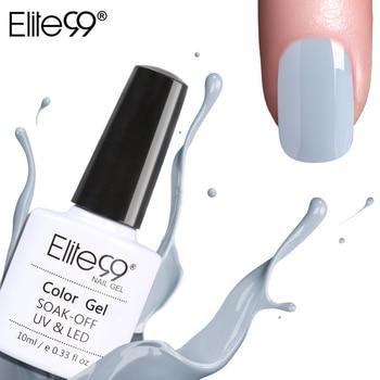 Elite99 Alle 12 Farben Nagel DIY Soak off Gel UV LED 10 ml Nail art Grau Farbe Gel Nägel Polieren UV-Lack Lack