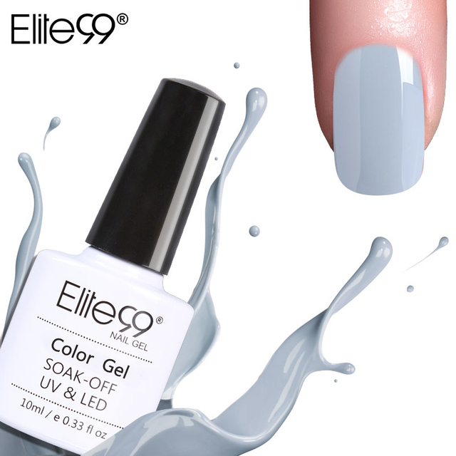 Elite99 Alle 12 Farben Nagel DIY Soak off Gel UV LED 10 ml Nail art Grau Farbe Gel Nägel Polieren UV-Lack Lack