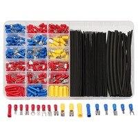 320pcs Terminals Assorted Connectors 60Pcs Black 2 1 Heat Shrink Tubing Tube Box Kit Crimp Terminal