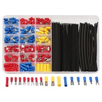 320pcs Terminals Assorted Connectors 60Pcs Black 2 1 Heat Shrink Tubing Tube Box Kit Crimp Terminal