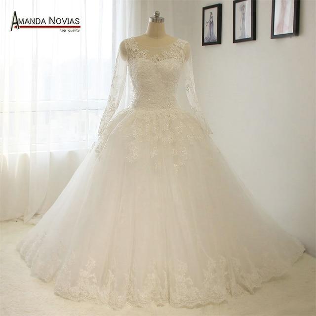 Elegant Simple Long Sleeve Wedding Dress: Aliexpress.com : Buy Elegant Simple Long Sleeve Wedding