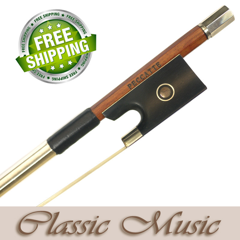 5 Star  Permanbuco Peccatte Model Master Level  Violin Bow  Hot Sell! free bow case, handmade new solid maple wood brown acoustic violin violino 4 4 electric violin case bow included