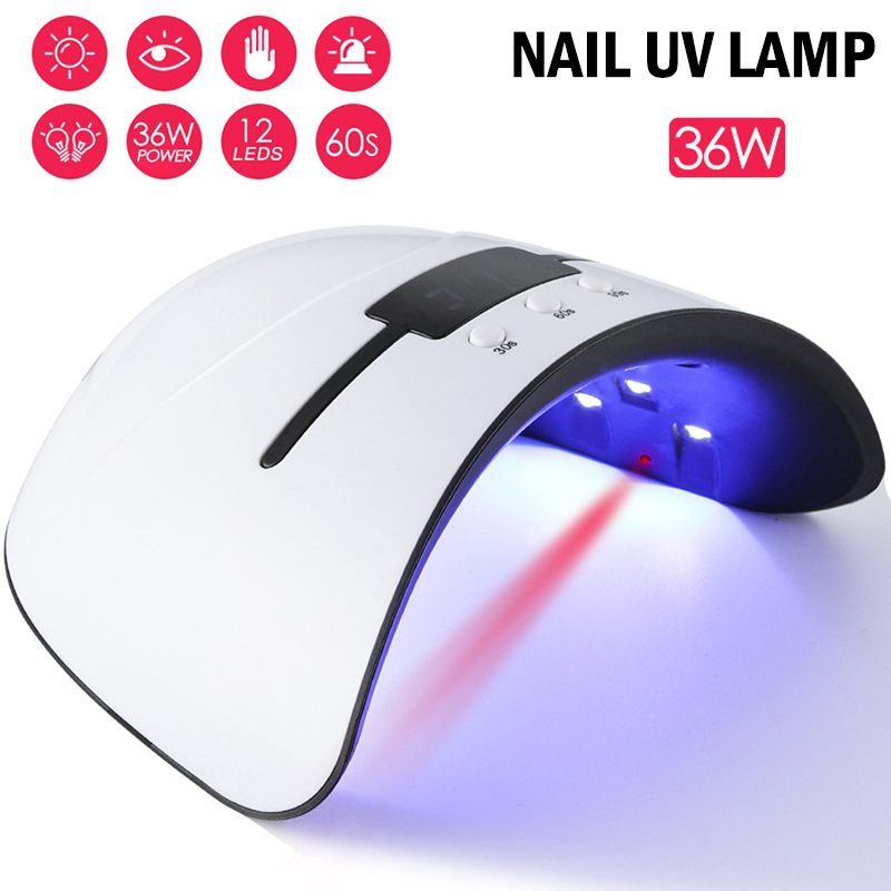 1 Pcs Nail Polish Gel Dryer LED UV Lamp 36W Curing Light Manicure Infrared Sensor 789(China)