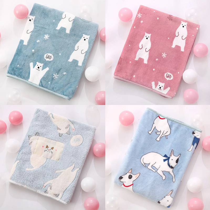 Winter Soft Swaddle Stroller Bedding Wrap Flannel Baby Blankets Newborn Bath Towel For Kids Diapers Children Products Photo