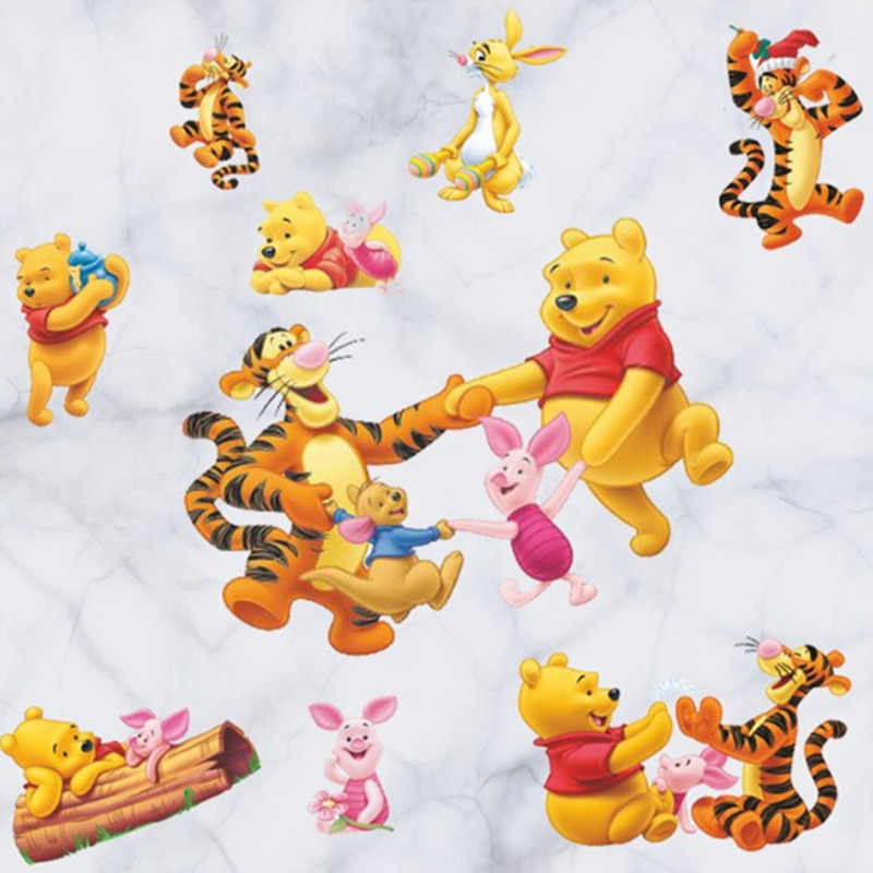 Winnie Bear Cartoon Image Wall Decals The Pooh Tigger 3d Vinyl Stickers Kids Room Decoration Baby Favorite Puzzle Poster 90 30cm Sticker For Kids Room 3d Vinyl Stickersstickers For Aliexpress