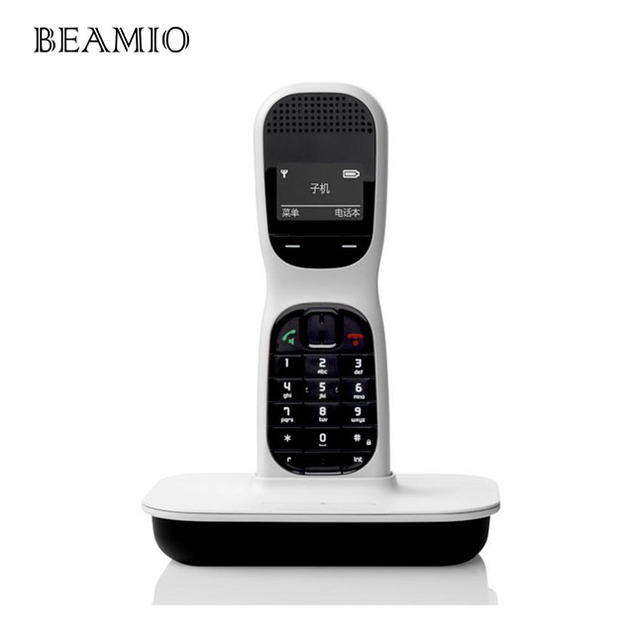 English 24Ghz Digital Cordless Phone With Handfree 145 Inch Screen Wireless Home Fixed Telephone For Office White