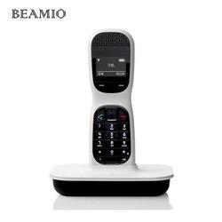 Inglés 2.4 GHz teléfono inalámbrico digital con manos libres 1.45 pulgadas pantalla inalámbrico fijo inalámbrico teléfono de oficina blanco