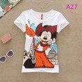 Nuevo 2015 de la camiseta de algodón Mujeres Torre Eiffel de Impresión de Manga corta Del O-cuello Camiseta Floja Tops chica mujeres de la camiseta El Envío Libre