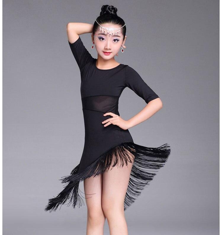 ba2dfb7ae Modern Girl Latin Dance Dress For Girls Salsa tango skirt Ballroom ...