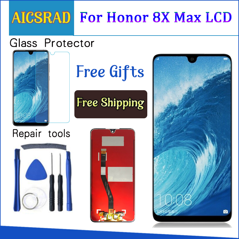 With Frame 7.12 For Huawei Honor 8X Max LCD Display Touch Screen Digitizer Assembly Replacement +ToolsWith Frame 7.12 For Huawei Honor 8X Max LCD Display Touch Screen Digitizer Assembly Replacement +Tools