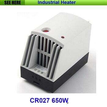 Gran calidad Industrial usado pequeño compacto 650w PTC elemento calefactor Semiconductor ventilador calentador CR027