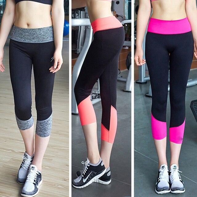 cf85d1497eb5e NEW professional women sports pants super stretch yoga pants skinny Capris  Seven sports Leggings lady's running Fitness pants
