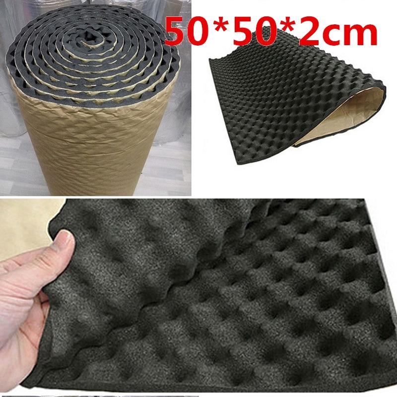 Insulation Acoustic Foam Mat Car Engine Road Noise Deadener 50x50x2cm Inner Pad High Quality