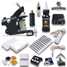 D1036-1 Complete  Beginner  Tattoo Kit  Machine WQ5009-1 Gun 10 color inks Power Supply Set