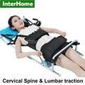 Patentado Buena Eficiente Columna Cervical Columna Lumbar Tracción Cama de Terapia de Masaje Cuerpo Del Dispositivo de Estiramiento para el Lumbago Dolor de Espalda Baja