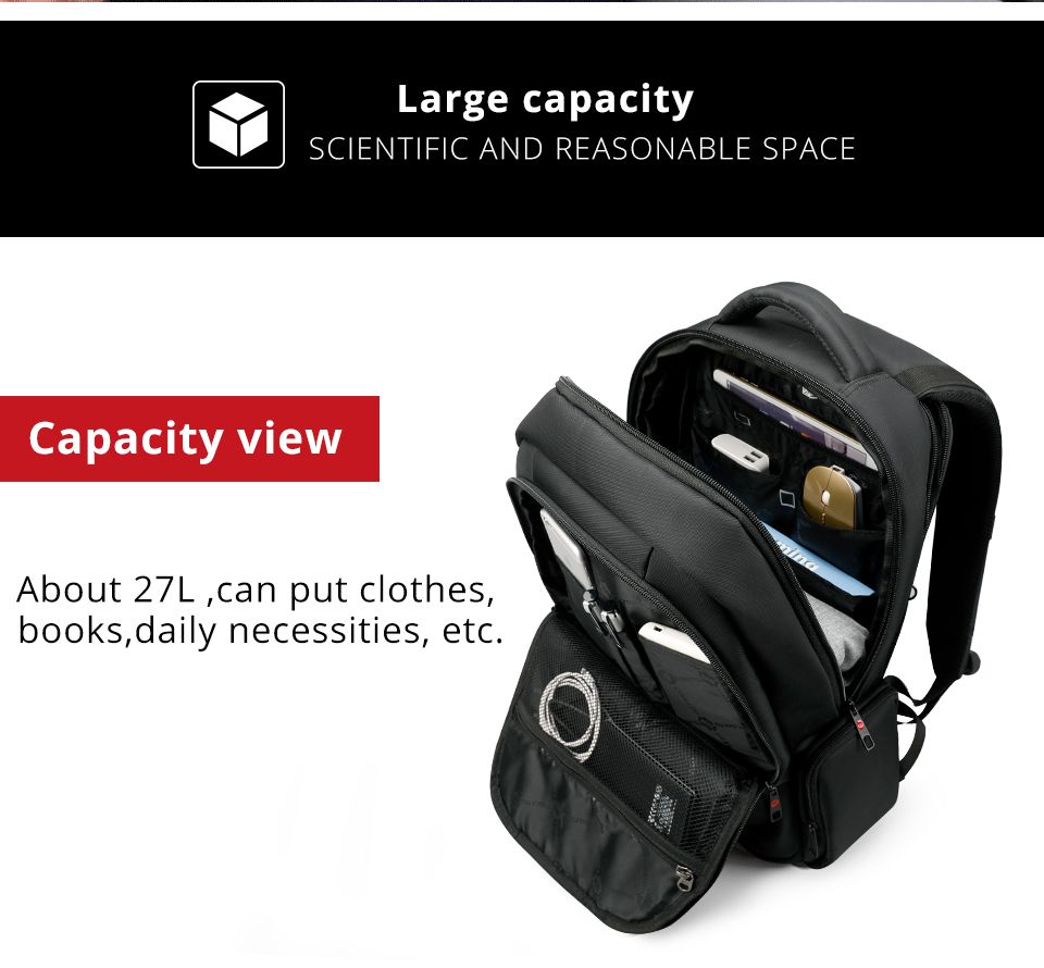 Spacious 15.6 inch Laptop Travel Backpacks
