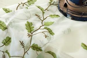 Image 5 - אמריקאי סגנון עלים רקום וילון חלון Tull Volie מסך וילונות עבור שינה Cortinas Para Sala De Luxo CL 86