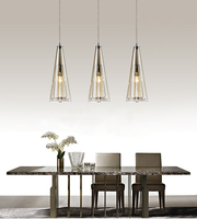 Кристалл Светодиодные подвесные светильники лампы блеск с E14 EDISON ЛАМПЫ современный подвесной светильник стеклянным абажуром для кухня сто
