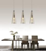 Crystal led pendant lights lamp lustre with E14 edison bulb modern pendant lamp glass shade for kitchen dining room lighting