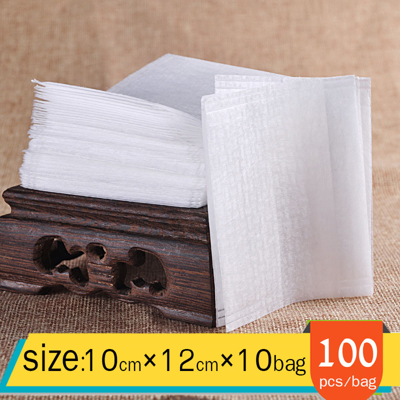 1000 pcs/bag Folding design PLA corn fiber tea bag disposable empty Chinese medicine bag plant fibres Safety and environmental