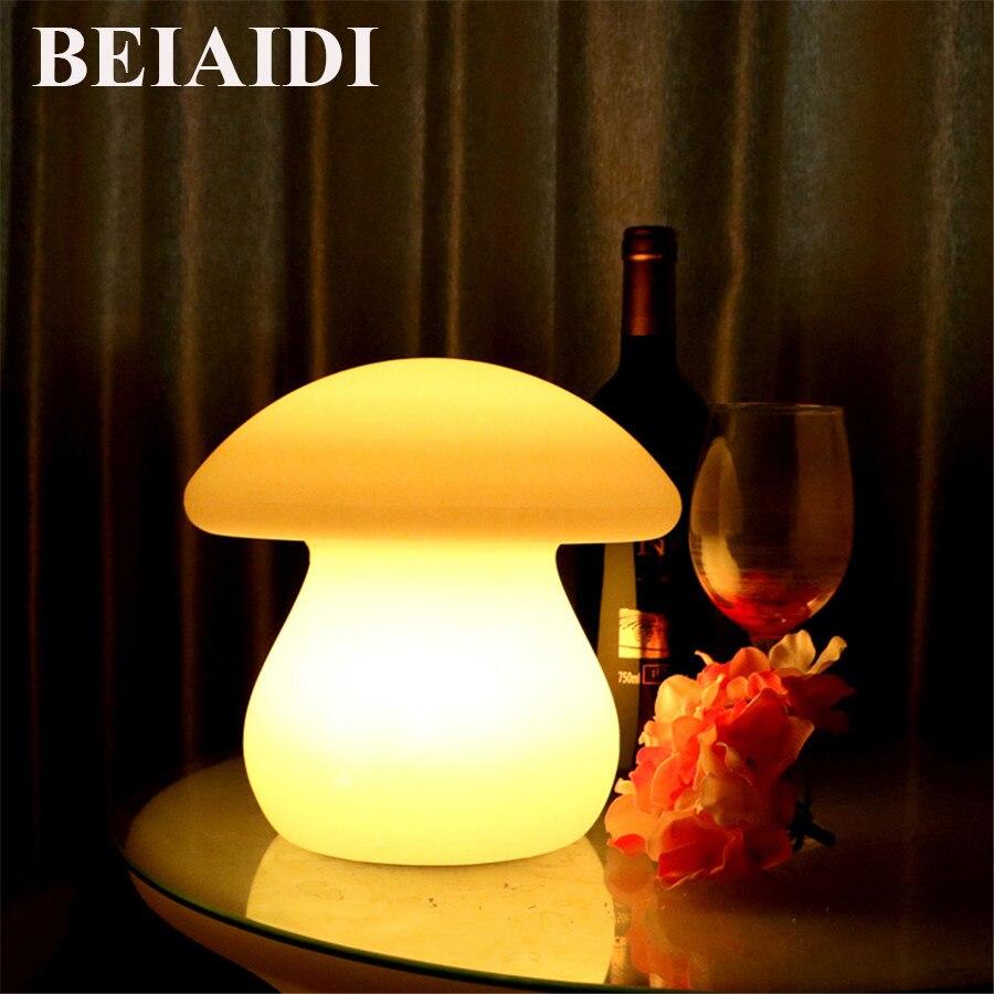 BEIAIDI 16 couleur RGB champignon Led veilleuse atmosphère lampe de bureau d'humeur IP68 extérieur lumineux mobilier Bar lumière avec télécommande