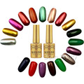 Popular 1pc 12ml Fashion  Silver Metal Color UV Gel Long Lasting Soak Off Gel Polish UV Polish Varnish