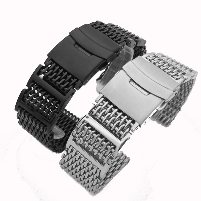 Dismantling Screw 316L Stainless Steel Cool Shark Milan Stainless Steel Solid Watch Band Strap 20mm 22mm 24mm WatchbandDismantling Screw 316L Stainless Steel Cool Shark Milan Stainless Steel Solid Watch Band Strap 20mm 22mm 24mm Watchband