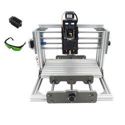 Mini CNC 2417 + 2500mw laserowe frezowanie CNC maszyna wiertarka PCB z kontrolą GRBL