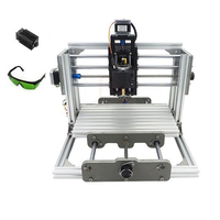 Mini CNC 2417 + 2500mw laser CNC milling machine PCB drilling machine with GRBL control