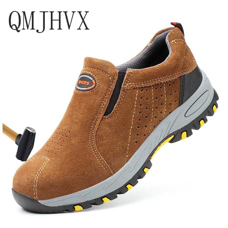2019 Männer Stahl Kappe Kappe Arbeit Sicherheit Schuhe Outdoor Anti-slip Stahl Punktion Beweis Bau Casual Sport Sicherheit Stiefel Unisex