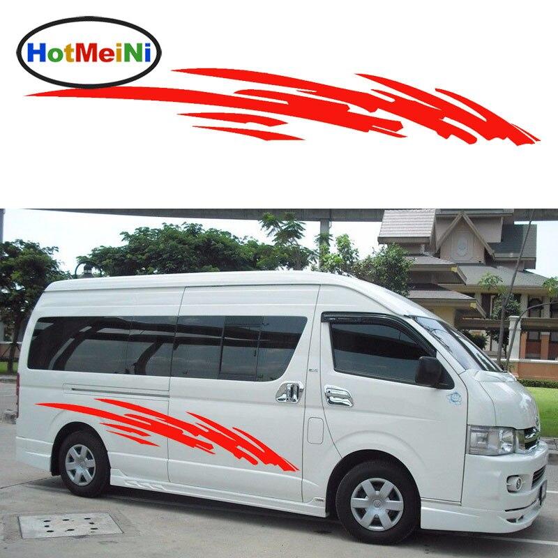 HotMeiNi Hot 2x Running Forward Dynamic Camping Outdoors Car Stickers for Caravan Camper Van SUV Bus Car Side Kayak Vinyl Decal